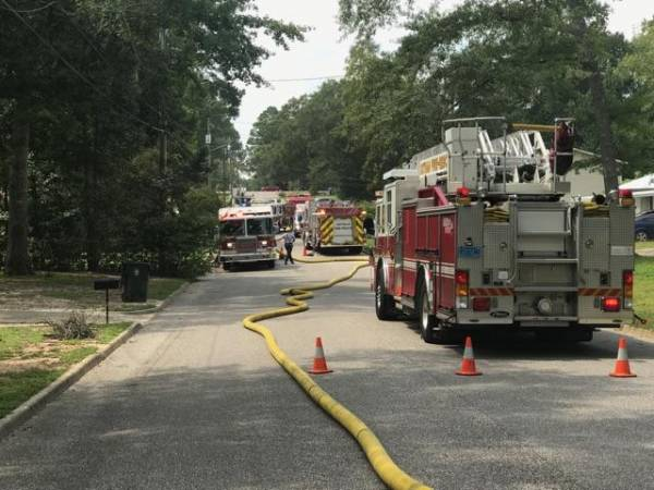 UPDATED @ 3:30 PM Structure Fire on Cynthia Dr