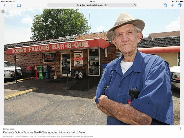 Mr. Lee Dobb's - Owner of Dobb's BBQ Restaurant Passed Away