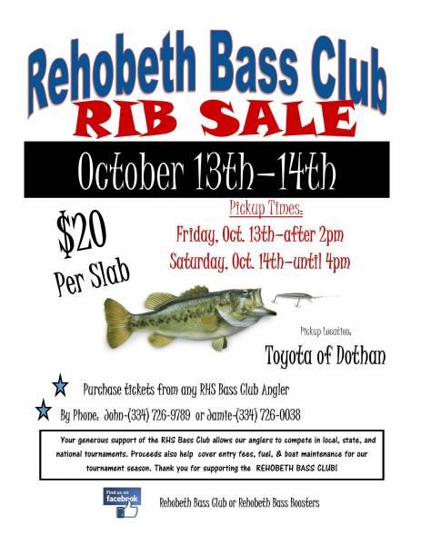 Rehobeth Bass Club Rib Sale