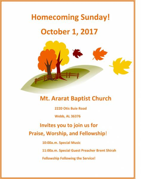 Home Coming at Mt. Ararat Baptist Church