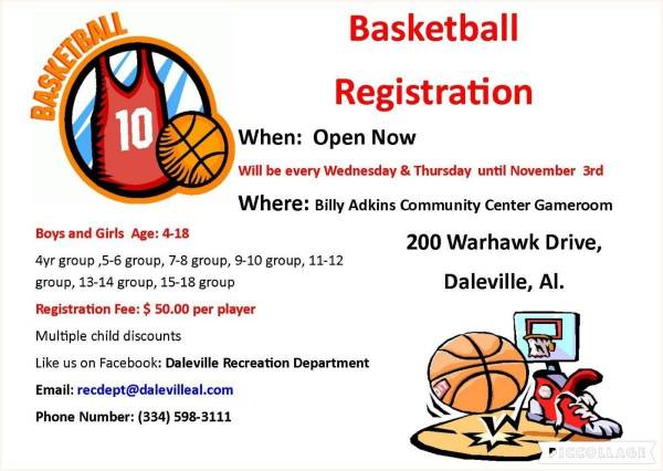 Basketball Registration for Daleville