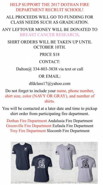 Help Support the 2017 Dothan Fire Department Rookie School