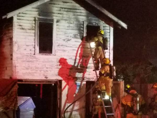 9:43 PM.... Structure Fire on West Powell Street