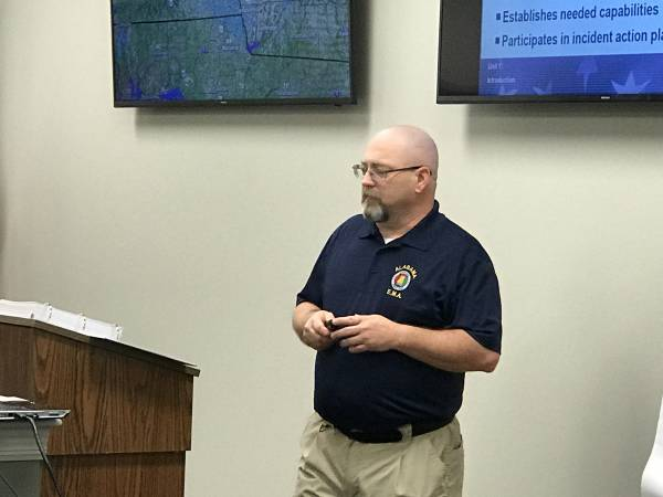 Alabama Emergency Management Director Brian Hastings Visits Dothan Houston County EMA