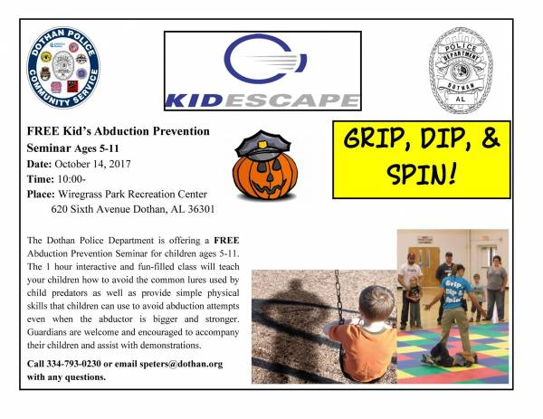 Free Kids Abduction Prevention Class
