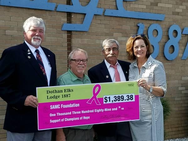Dothan Elks Lodge Presents Checkto the SAMC Foundation