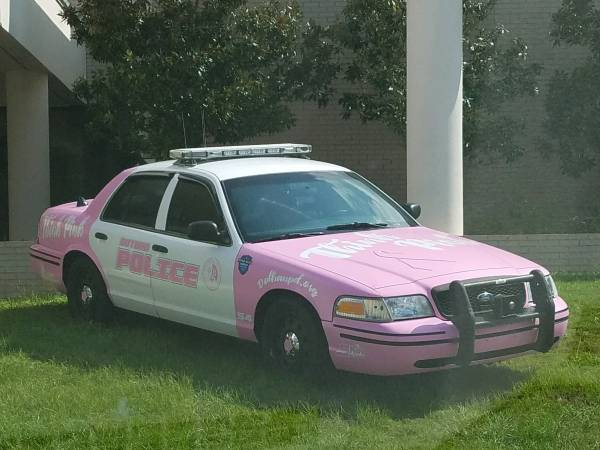 Dothan Police Showing Support for Breast Cancer Awareness Month