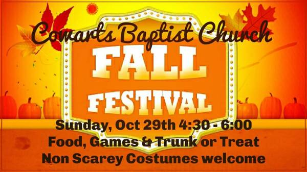 Fall Festival at Cowarts Baptist Church