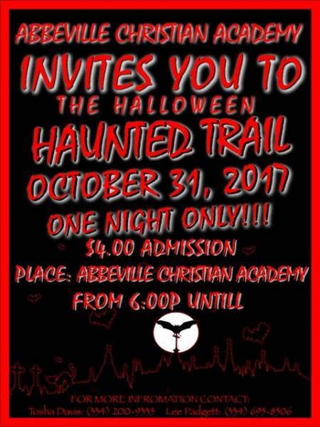 Haunted Trail for One Day Only
