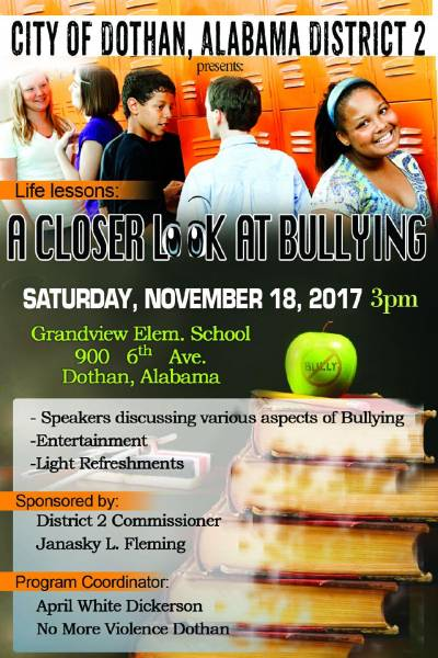 Bullying Seminar Set for Nov 18th