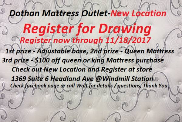 UPDATE; Drawing for: Free Queen Mattress, Free Adjustable Base