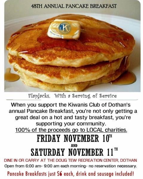 The 48th annual Dothan Kiwanis Club Pancake Breakfast 2017