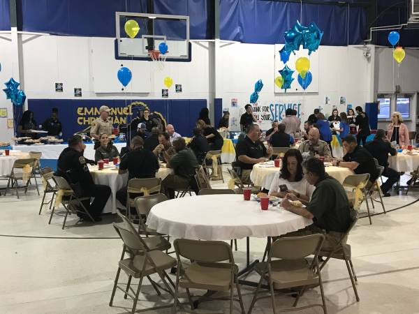 Emmanuel Christian School Hosted an officer Appreciation Day Today