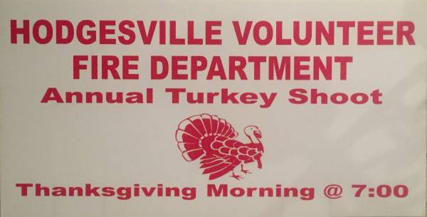 Hodgesville Volunteer Fire Dept Annual Turkey Shoot