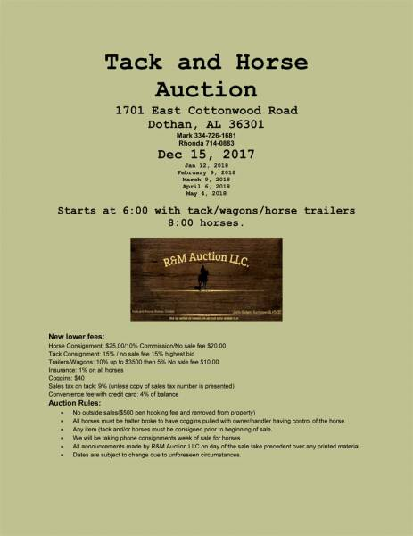 Tack and Horse Auction
