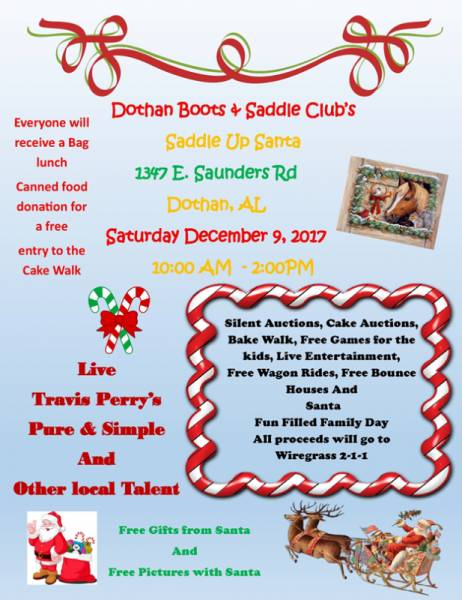 Saddle Up Santa Christmas Festival December 9, 2017