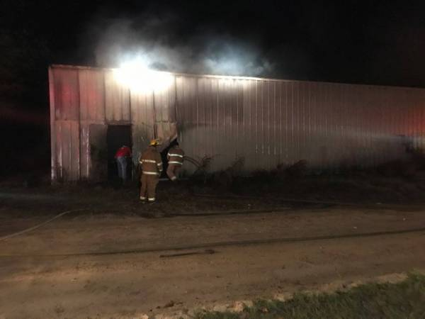 Active Structure Fire at the Old Hughes Body Shopin Pansey