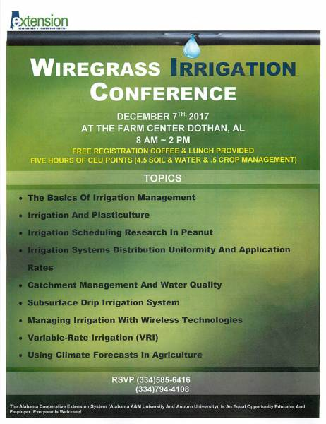 Wiregrass Irrigation Conference