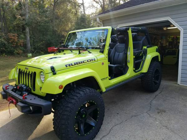 Attractive 2016 Lime Green Jeep Rubicon Hard Rock For Sale