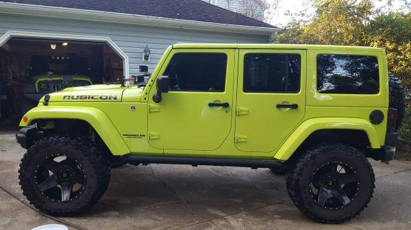 Awesome 2016 Lime Green Jeep Rubicon Hard Rock For Sale