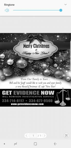 Merry Christmas from Bill Robison Investigations
