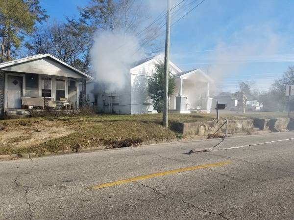 9:07 AM... Structure Fire at East Burdeshaw and Patterson Street
