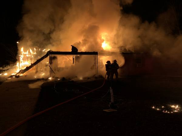 UPDATED @ 8:56 PM.  7:29 PM... Structure Fire on Dyras Road in Cottonwood