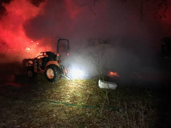 Early Morning Fire Destroys Travel Trailer in Lucy
