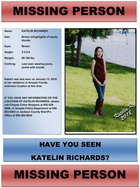 Missing Person in Jackson County