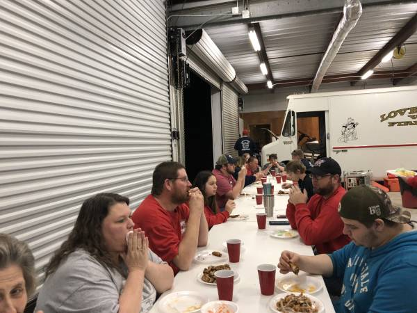 Lovetown UNPAID PROFESSIONAL FIRE Has Cookout For Department and Guests