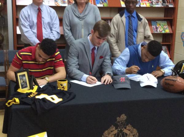 Three Ashford High School Seniors Sign with Colleges