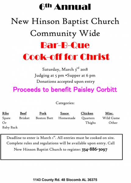 BBQ Cookoff for Paisley