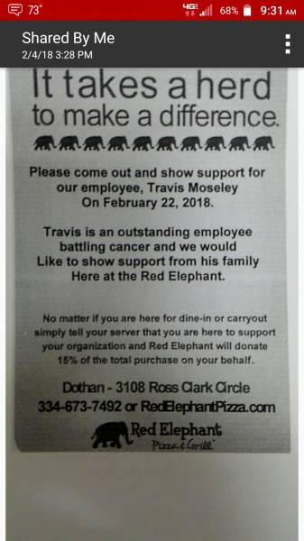 Benefit for an employee battling Cancer