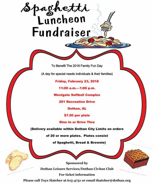 Spaghetti Lunch Fundraiser
