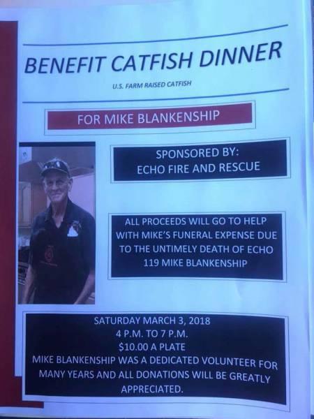 Benefit Catfish Dinner for Mike Blankenship