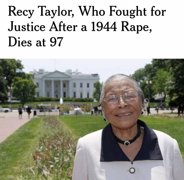 Recy Taylor.... Cherish Her Life...Remember Her Life