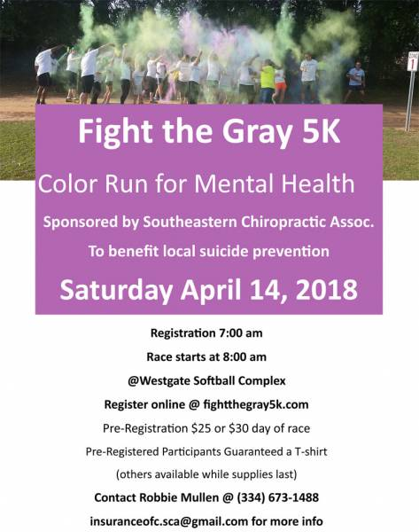 FIGHTING THE GRAY 5K COLOR RUN for MENTAL HEALTH