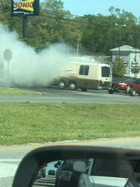 Motorhome Fire 231 North At Murphy Mill Road