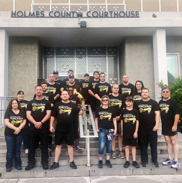 HOLMES COUNTY SHERIF'S OFFICE ESCORTS 'FLAME OF HOPE'