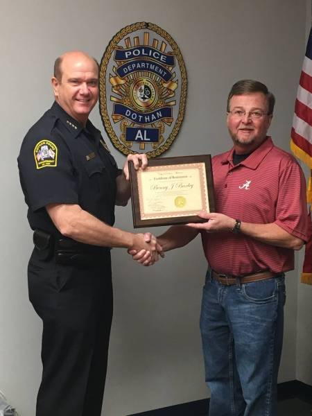Congratulations To Dothan Police Lt. Benny Baxley