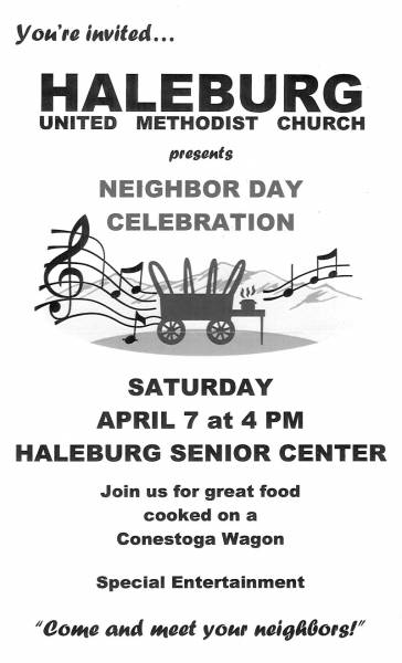 Haleburg United Methodist Church to Host Neighbor Day Celebration