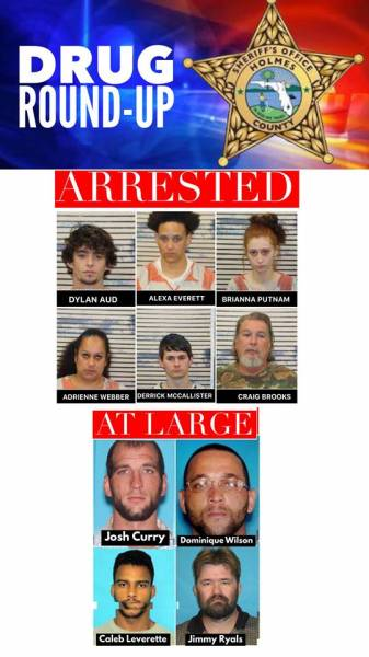NARCOTICS INVESTIGATION ENDS WITH SIX ARRESTS, FOUR AT LARGE