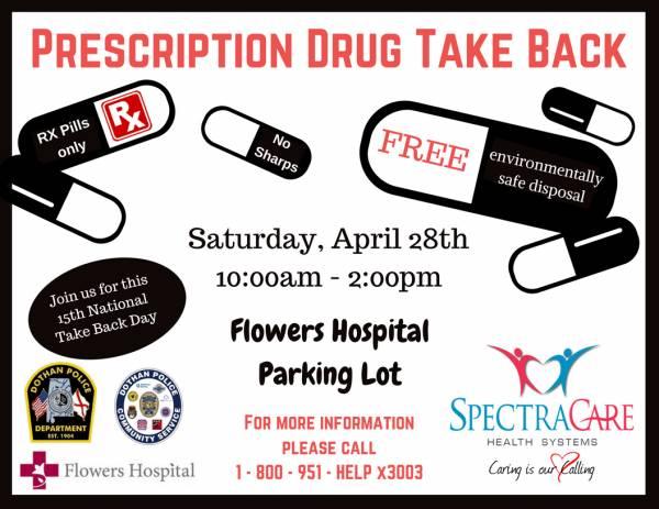 PRESCRIPTION DRUG TAKE BACKS IN HOUSTON COUNTY