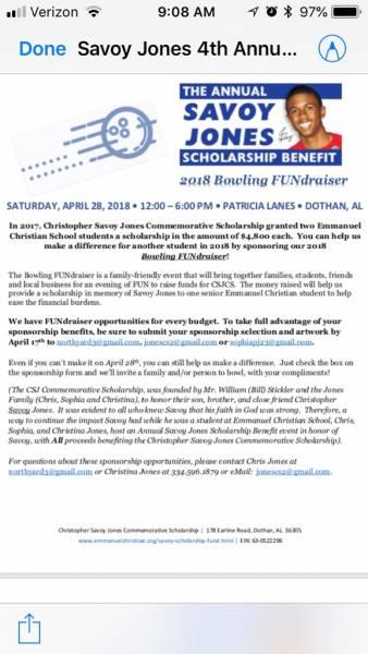 2018 Bowling FUNraiser Savoy Jones Scholarship Benefit