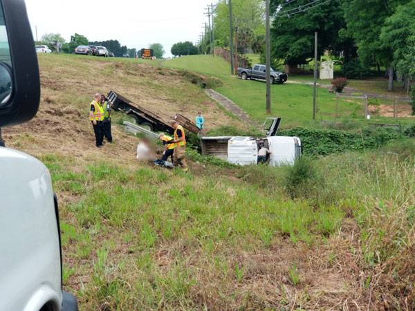 9:16 AM... Vehicle in Ditch in the 6000 Block of West Main