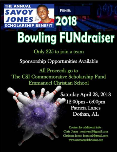 2018 Bowling FUNraiser Savoy Jones Scholarship Benefit