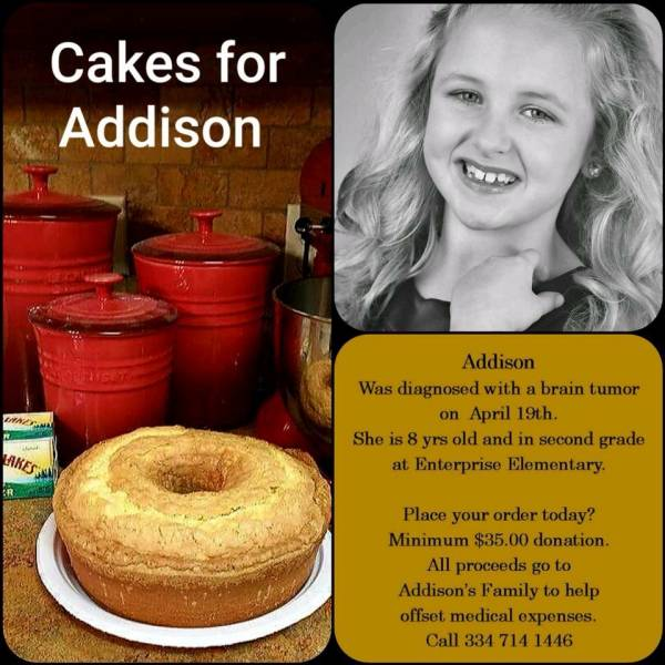 CAKES FOR ADDISON     IN MEMORY OF DR. CHRISTY EDWARDS