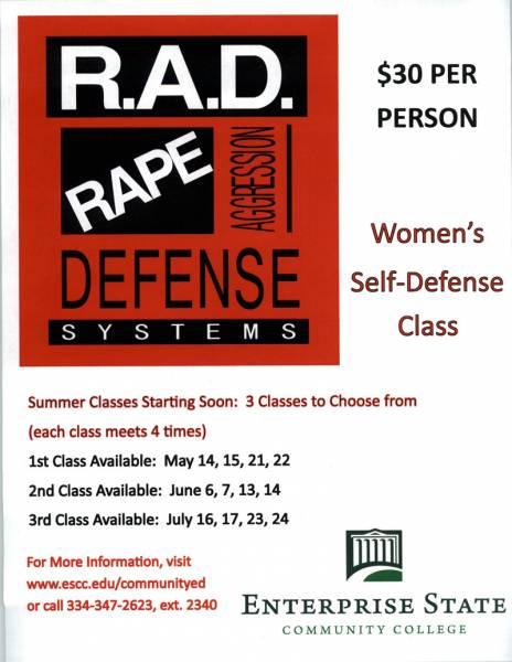 Enterprise Community College to Host R.A.D. Classes