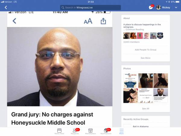 Honeysuckle Middle School Principal CLEARED By A Houston County Grand Jury