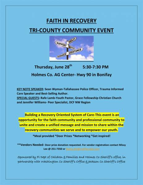 Tri-County Event: Faith in Recovery
